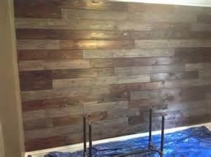 wood wall using cedar fencing burn the cedar with a