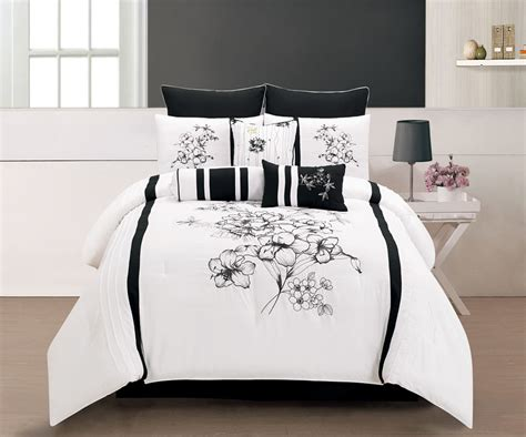 black and white king comforter sets 9 piece cal king rozlynn black and white comforter set ebay