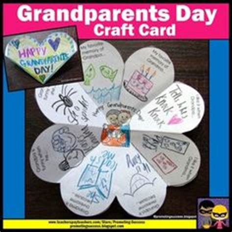 grandparents day card template grandparents day activities elementary school enrichment