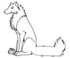 Wolf Sitting Outline by Free Sitting Wolf Lineart By Trisomy On Deviantart