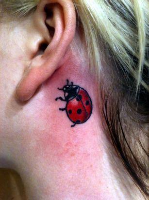 ladybug tattoo behind ear ladybug tattoos and designs page 5