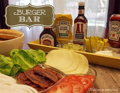 Backyard Burger Bar by Burger Bar Makeovers Motherhood
