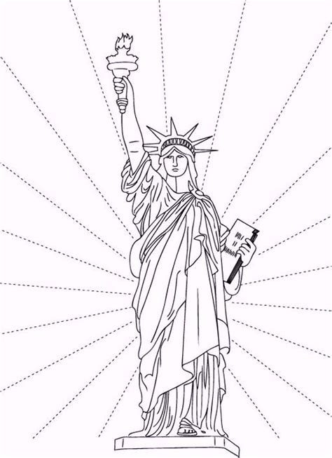 coloring book new york city statue of liberty coloring sheets