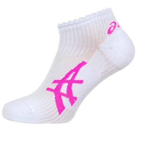 running socks uk asics s running socks 2 pack white pink