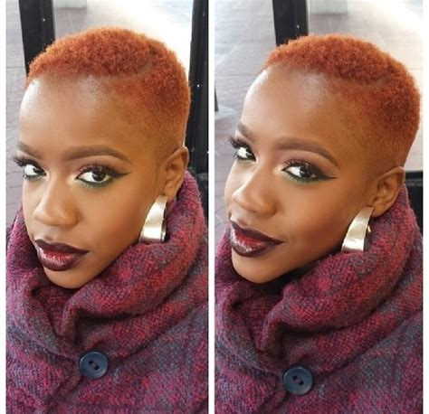 big chop and color natural hair lovely colour haute hair pinterest