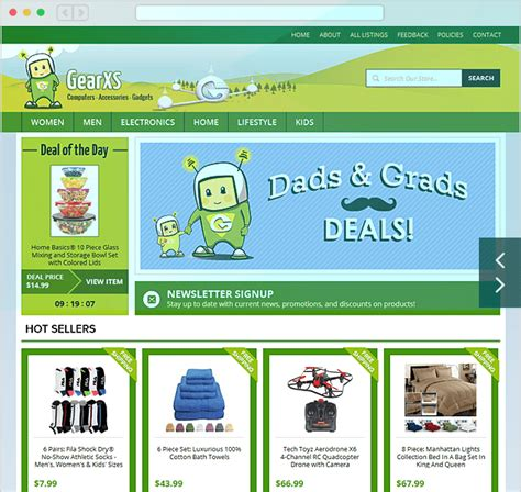 advanced template and store design ebay stores