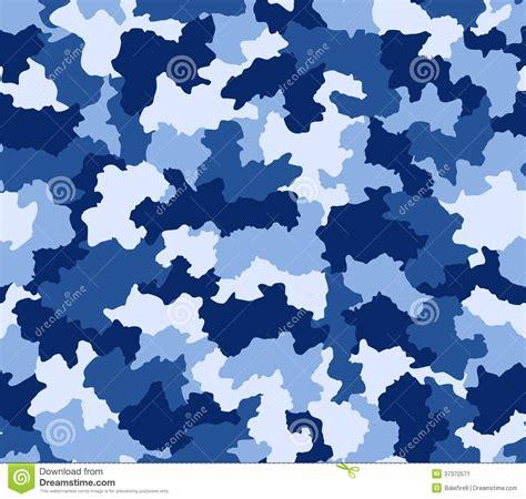 pattern army blue blue camouflage seamless pattern stock illustration
