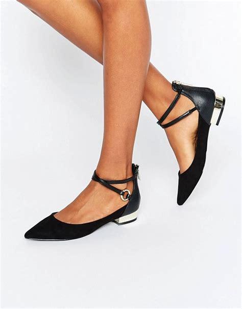 aldo aldo biacci ankle strap plated heel flat shoes