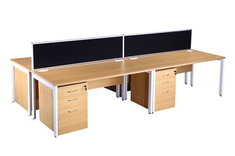 light oak block bench desk pedestals office furniture