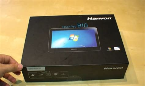 Tablet Hanvon hanvon b10 win7 tablet goes on sale gets unboxing