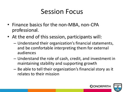 Cpa Credits For Mba by Nonprofit Finance Basics For The Non Mba Non Cpa