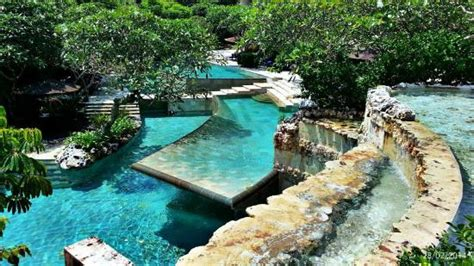 Nature Stek Indonesia tiered river pool next to dava picture of
