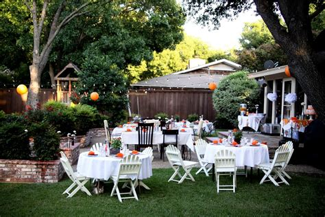 backyard party setup outstanding backyard wedding arrangement ideas