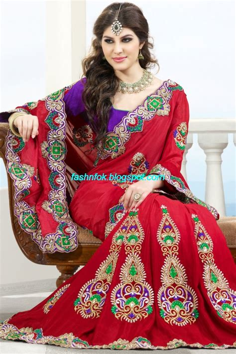 Onic Blouse Fashion Fok Indian Sarees For Wedding Bridal Wear