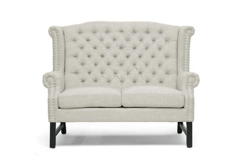 high back tufted sofa modern beige linen button tufted high back sofa loveseat