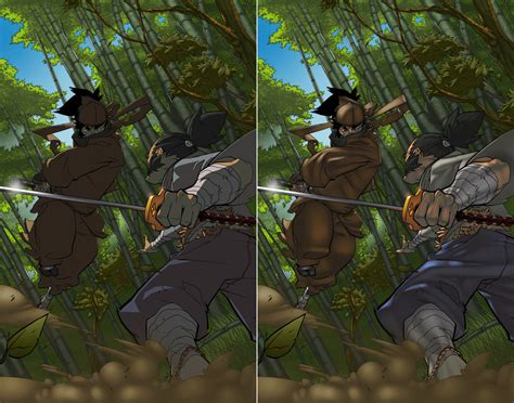 samurai vs ninja by pixelisedmind on deviantart