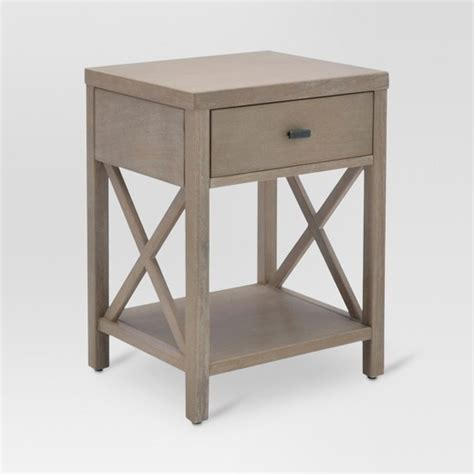 accent table with drawer owings end table with drawer rustic threshold target
