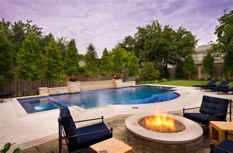 backyard design with pool swimming pool with hardscape and landscape ideas cool
