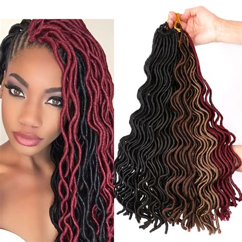 how to curl the ends of synthetic braids 24 roots curly faux locs wavy dreadlocks crochet braids