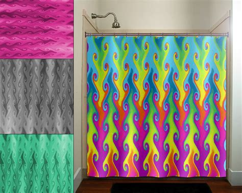 Bright Colorful Kitchen Curtains Inspiration Multi Color Vines Bright Colorful Rainbow Shower Curtain Bathroom Decor Fabric K Ebay