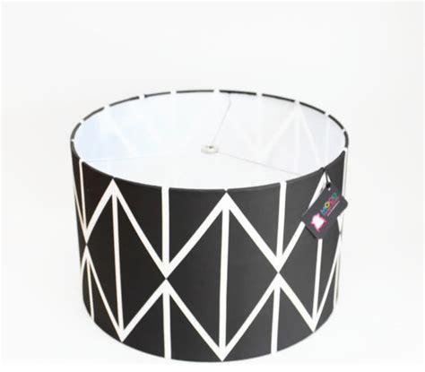 Modern Drum L Shade modern drum l shade black and white geometric