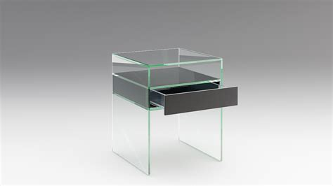 Glass Bedside Drawers by Bedside Table In Glass With Drawer