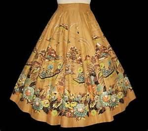 vintage find japanese novelty print skirt debutante