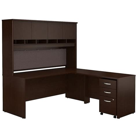 bush series c office furniture bush business series c 72 quot l shaped desk with hutch in mocha cherry src0018mrsu