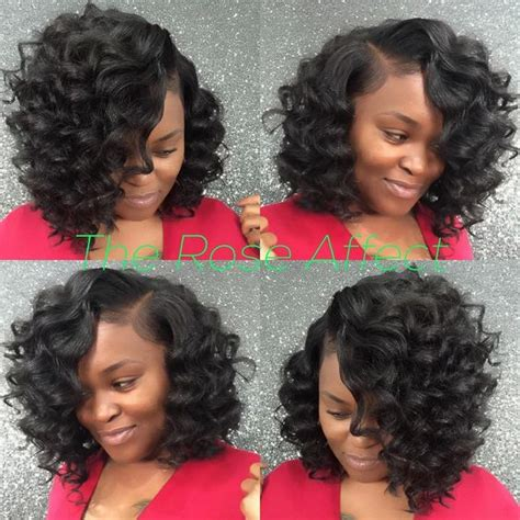 Wave Sew In Hairstyles by Bob Sew In Curly Bob And Sew Ins On