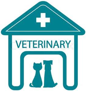 veterinary symbol with home clinic and pet stock vector