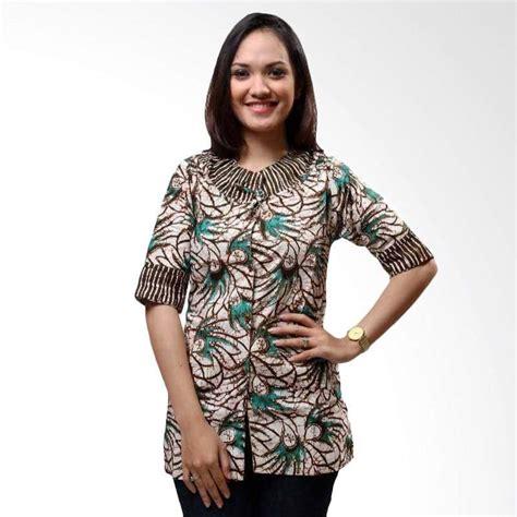 Atasan Top Blouse Wanita Kerja Kantor Resmi Formal Casual Katun Simple model baju atasan batik terkini untuk remaja model baju