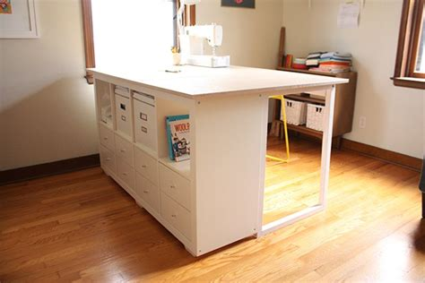 Custom Diy Sewing Cutting Table Noodlehead Diy Sewing Desk