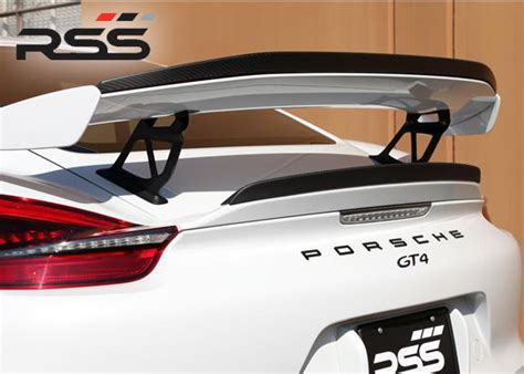 design cover set motor porsche 981 cayman gt4 complete carbonaero kit rss 253