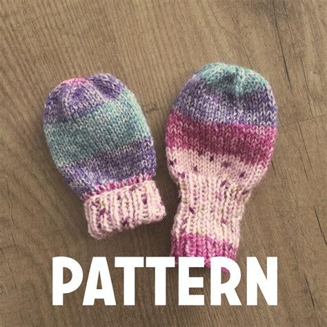 knitting pattern baby mittens thumbless basic baby thumbless mittens pattern