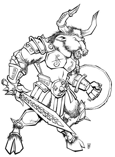 Percy Jackson Minotaur Coloring Page Coloring Pages Minotaur Coloring Pages
