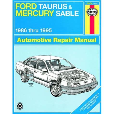haynes ford taurus mercury sable 1986 1995 all models repair manual 1421 for sale ford taurus mercury sable 1986 1995 rth036074 revue technique haynes anglais