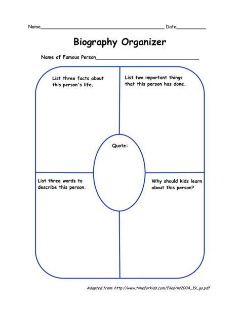 biography graphic organizer pinterest biography organizer language arts pinterest family