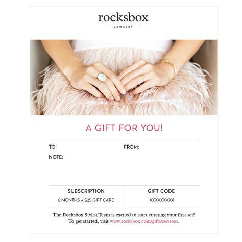Rocksbox Gift Card - rocksbox the premium jewelry subscription box