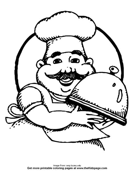 coloring page chef hat pin coloring page chefs hat img 24713 on pinterest