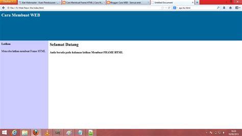 Cara Membuat Halaman Index Html | cara membuat frame html cara web
