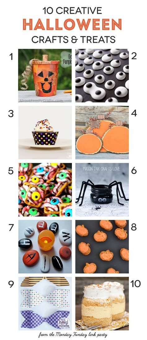 Creative Halloween Crafts - 10 halloween crafts amp treats and monday funday link party club chica circle where crafty is
