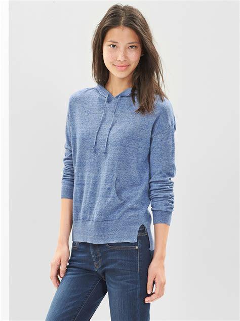 Hoodie Zipper Sweater Gap gap sweater hoodie in blue blue lyst