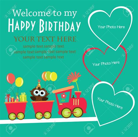 design birthday invitation cards free birthday invitation card design for kids festival tech com