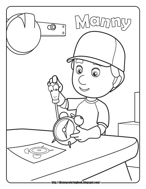 coloring book references handy manny coloring pages 18280