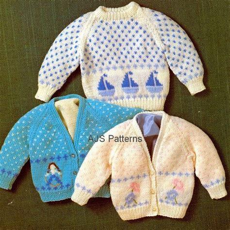 Jumper Motif Jangkar For Baby pdf knitting pattern for baby and toddlers 3 motif