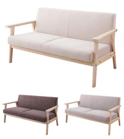 wooden armrest for sofa mowlift rakuten global market nordic wood arm sofa loveseat