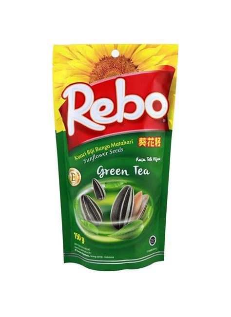 rebo kuaci green tea pch 150g klikindomaret