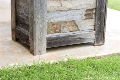 Reclaimed Wood Planter Box by The Universe Diy Reclaimed Wood Planter Box For An