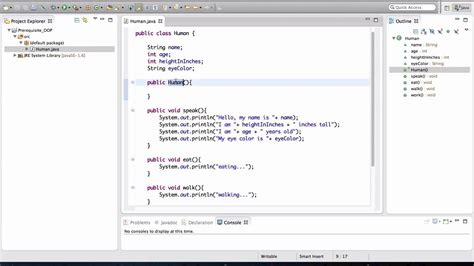 tutorial java object oriented programming java oop basics 1 5 class and object youtube