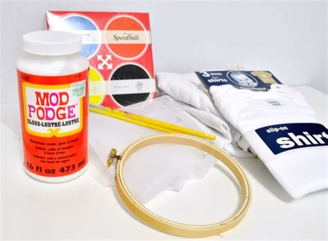 diy silk screen mod podge diy screen printing with mod podge mod podge rocks